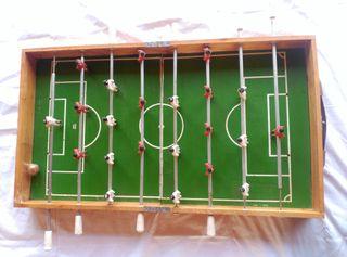 Futbolin madera plegable antiguo