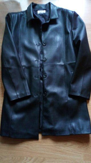 chaquetón de cuero, talla L