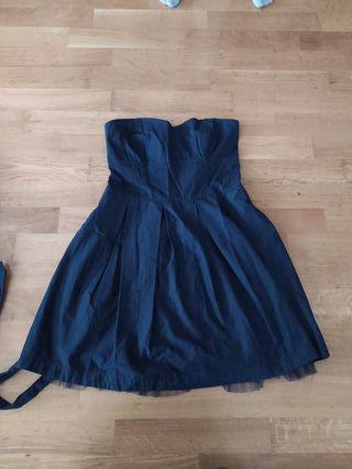 vestido de fiesta azul marino
