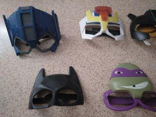 mascaras superhéroes impecables condiciones