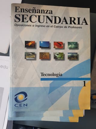 Material/libros oposiciones secundaria tecnología