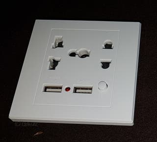 Enchufe con USB