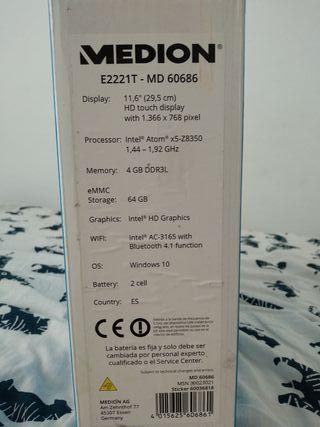 Ordenador portátil Medion