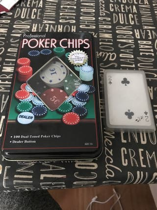Fichas y cartas poker