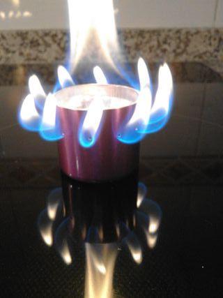 Hornillo de Alcohol Ultra ligero Camping morado