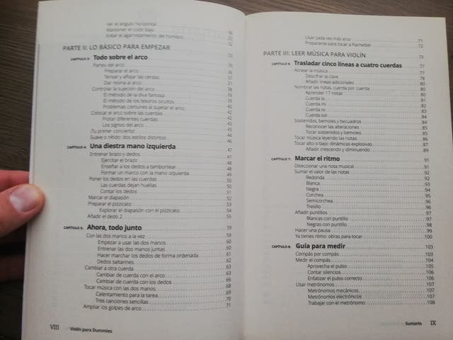 Libro para aprender a tocar el violin