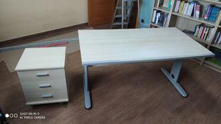 Mesa y cajonera auxiliar despacho escritorio