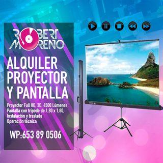 Alquiler de Proyector y Pantalla