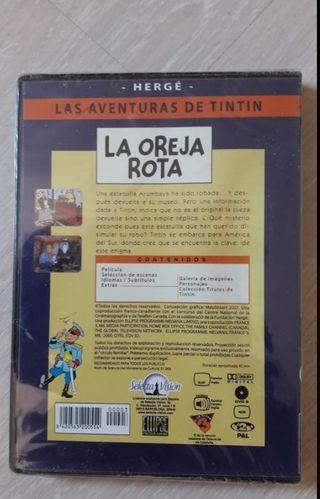 DVD-PELICULA TINTIN-LA OREJA ROTA
