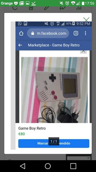 Videoconsola portátil GAME BOY. Retro.