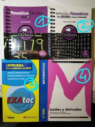 Matemáticas Fáciles Chuletas ESO y BACHILLERATO