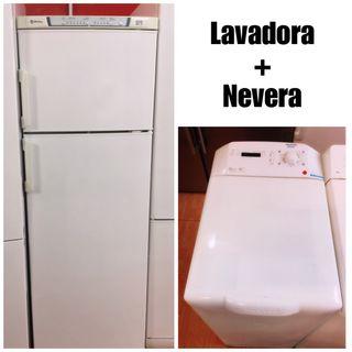 Lavadora +Nevera con garantía