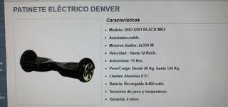 Patinete eléctrico Denver DBO-6501 Black
