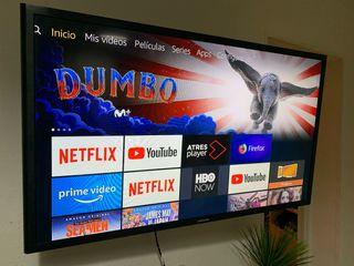 """Televisión Samsung 32"""" y Amazon Fire TV"""