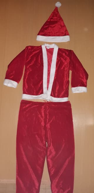traje de papá noel de 4 a 6 años