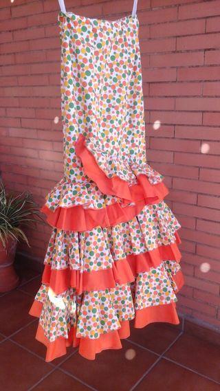 Falda rociera hecha a mano