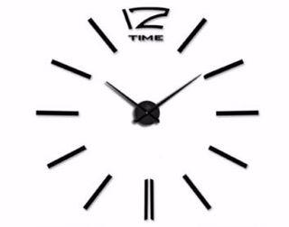 Reloj negro pared autoadhesivo sticker plantilla