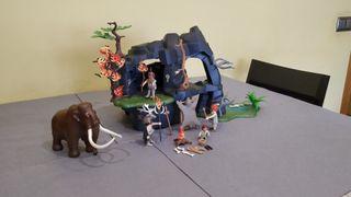 Playmobil cueva prehistórica