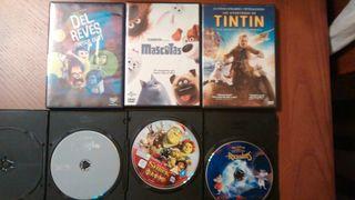 Lote 6 películas infantiles en DVD