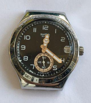 Reloj suizo marca SWATCH Irony stamless steel
