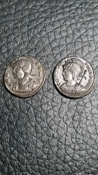 2 monedas imperio romano Constantino I Nummus