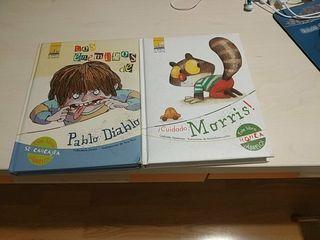 lote de dos libros infantiles:los enemigos de Pabl