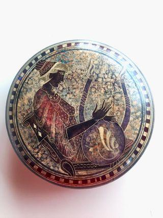 Caja ceramica - artesania Grecia