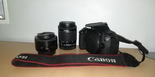 CANON EOS 700D + 50 MM 1.8 + 18-55 MM