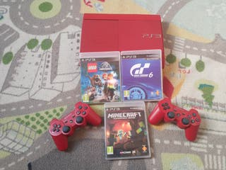 PlayStation 3 Super Slim CECH-4004C 500GB roja