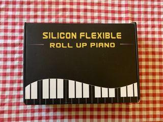 Teclado piano plegable