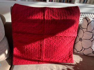 2 Fundas de almohadones de sofá o cama roja