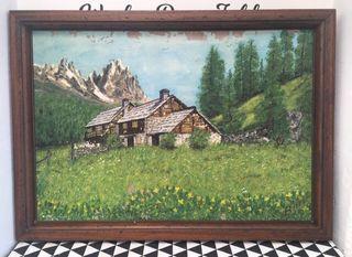 Muy antiguo cuadro al óleo naturaleza