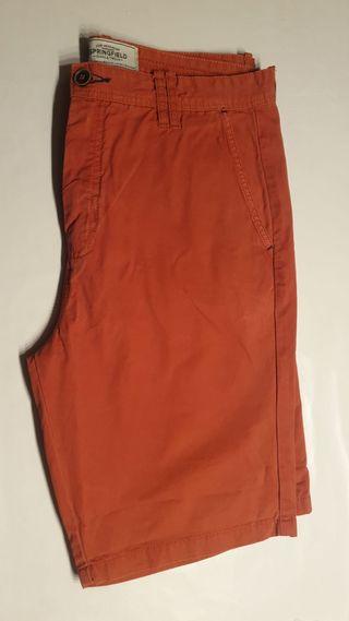 Bermudas rojo/naranja springfield talla 42