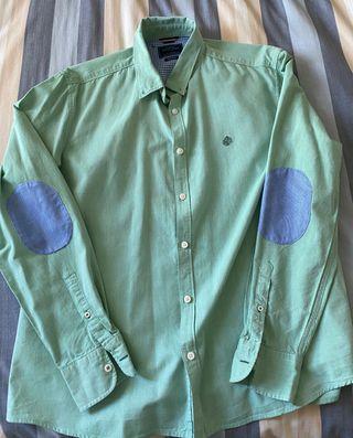 camisa verde con coderas springfield