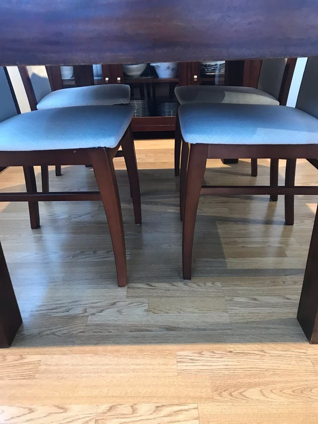 Conjunto de sillas madera cerezo