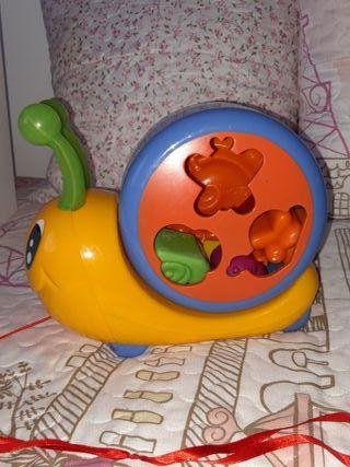 Juguete bebe niño encajar caracol