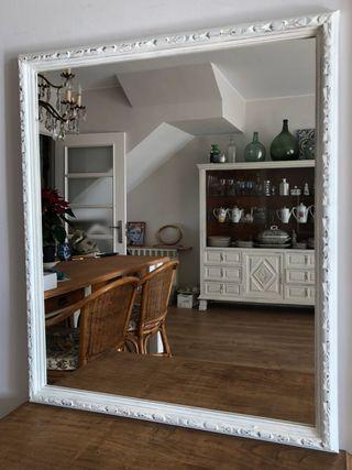 Espejo restaurado blanco 80 x 92