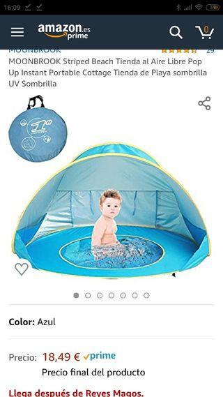 Iglú piscina y parasol / viento para niños/as