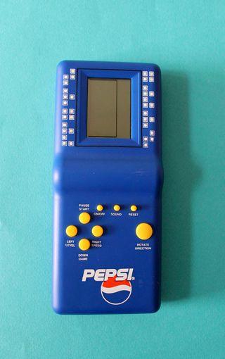 Videojuego Tetris con publicidad Pepsi