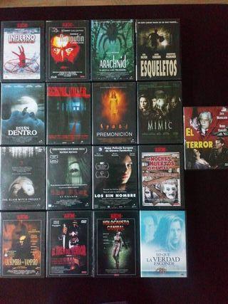 17 peliculas de miedo en dvd