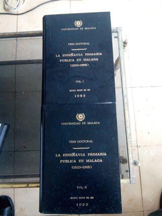 La enseñanza primaria pública en Málaga 1833-1868