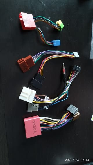 interfaz/adaptador cables radio coche sony pionner
