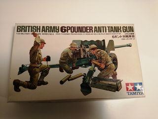 Maqueta British Army 6 pounder anti-tank gun
