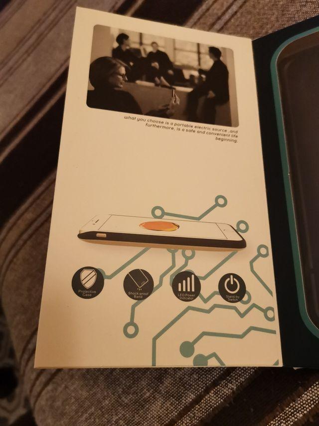 Funda batería para iPhone 7 plus negra