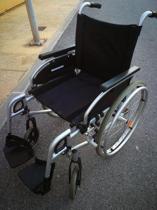 silla de ruedas de aluminio nueva