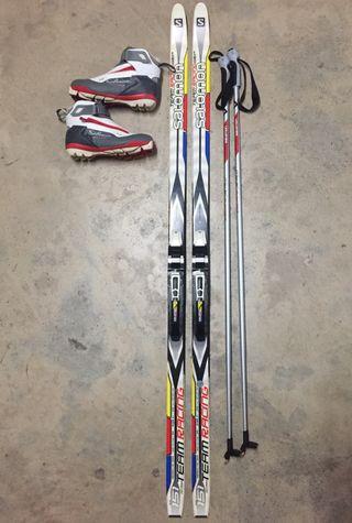 Equipo esquí de fondo Salomon niños