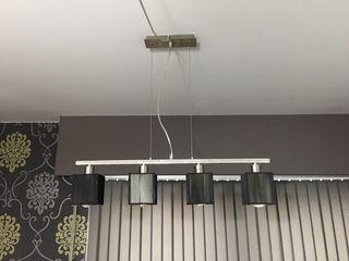 Lámpara colgante negra de salón
