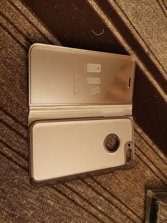 Funda carcasa flip clear gris para IPhone 7 plus