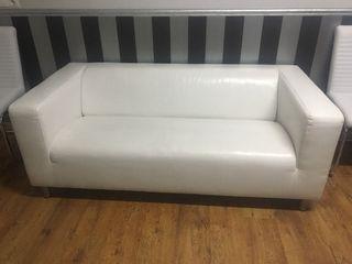 Sofá blanco piel Ikea