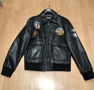 Cazadora piel Piloto. Army Type Garment